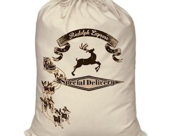 Rudolph Express large santa sack