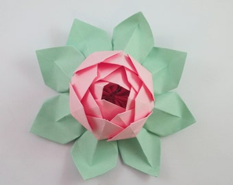Paper Lotus Flower - Easter - Mother's Day - Teacher Appreciation - Wedding Decor - Home Decor - Anniversary Gift - Birthday Gift