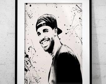 Drake poster print, Music wall art printable poster,  instant download