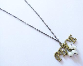 Peace Necklace  CO088