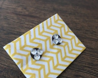 rhinestone triad earrings