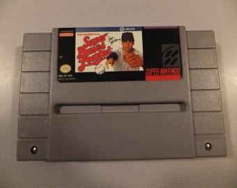 Super Bases Loaded Original SNES Super Nintendo Vintage Video Game Cart Cartridge