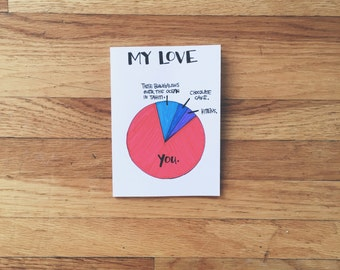Hand drawn card 'pie chart' FUNNY