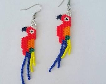 Handmade earrings miyuki delica