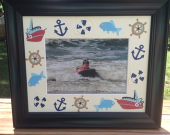 Nautical cruise picture frame