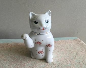Adorable cat teapot small teapot cat creamer chinese cat teapot