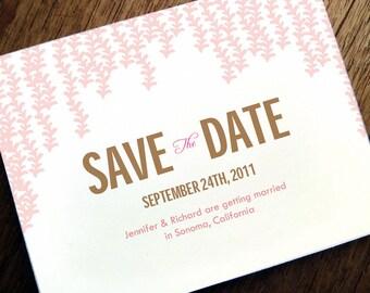 Save the Date Karten - Printable Hochzeit Save the Date - Save the Date Vorlage - PDF - Save the Date Karte zum Selberdrucken - Pink Rain