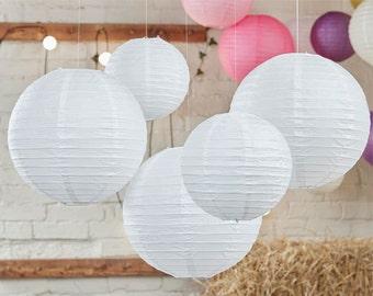 décoration de mariage Boho, lanternes en papier blanc, mariage dcorations, lanternes de papier chinois, suspension décor, anniversaire, plage