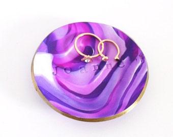 Purple Marble Ring Dish