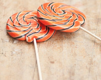Giant Swirly Halloween Lollipop
