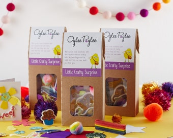 Kids party bags full of crafts, ideal for Birthday parties, stocking filler gifts or a little well done reward treat.