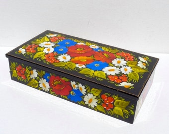 Hand Painted jewelry box - Jewellery box - Wooden trinket box - Treasure box - For her - Mother's day gift idea - Unique gift - Gift for her