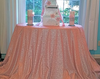 Rose Gold Glitz Sequin Table Cloth Sequin By