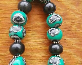 Handmade bracelet keychain, wearable key beads, functional keychain, beaded wristlet, clip on keychain, wearable key holder