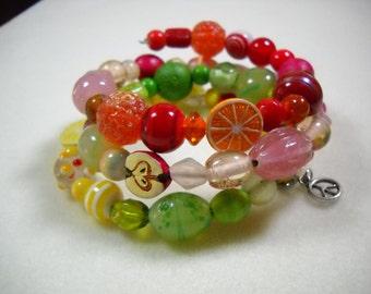 Tutti-Fruity Beaded Bracelet