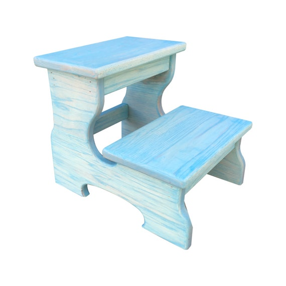 Wood step stool foot stool kids step stool by candlewoodfurniture Bathroom step stool for kids