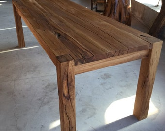 wooden handmade dining table