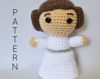 Princess Leia Star Wars Inspired CROCHET PATTERN - Instant PDF Download