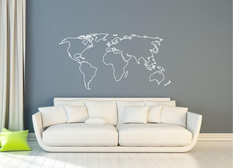 wanddecoratie sticker wereld kaart kaart van landen muur