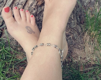 "10"" Silver Anklet"