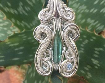 Tourmaline/aquamarine pendant