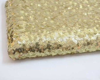 Excellent High qualilty Full gold Sequins lace fabrics Gold Sequins Wedding/party Lace Fabric