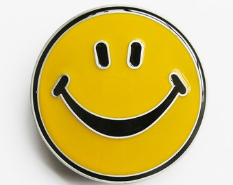 Smile Smiley Happy Face Belt Buckle