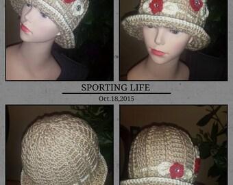 Soft cream Russian Spiral cloche Hats