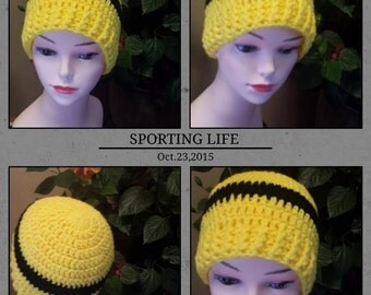 yellow  crochet hat