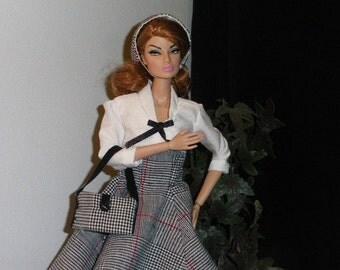 Dress Barbie 1940 clothing for Barbie silkstone Fashion Royalty Mini Muse doll