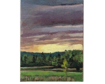 Landscape Oil Painting, Plein Air Painting, Clouds Oil Painting, Original Oil Painting, Daily Painting, Sky and Cloud Study Oil Painting