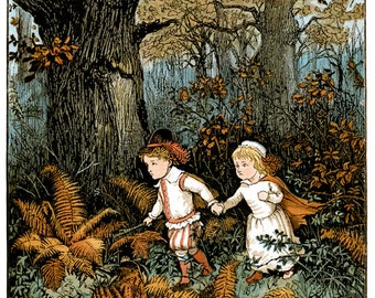 Hansel & Gretel Fairy Tales Fairies Faery Frameable prints or puzzle