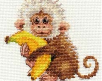 Cross Stitch Kit by Alisa - Monkey