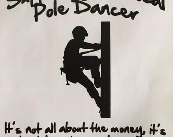 Vinyl Lineman sticker (comical)