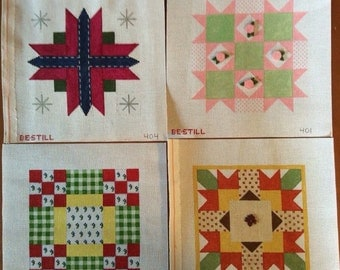 Four seasons in quilts: four needlepoint canvases