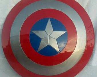Replica captain america shield real size ,made in iron!