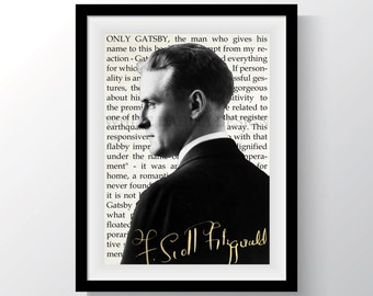 F. Scott Fitzgerald Tribute Art - The Great Gatsby - Instant Download