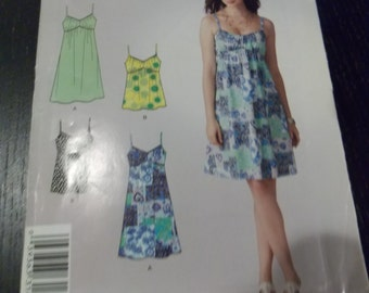 Sewing pattern Simplicity 2969 Misses' knit dress or top uncut size 6 to 18