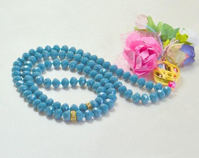 caftan tulip gilttered golden glass beads,charm black chain,sufi necklace,dowry sibhah gift,priest tasbeeh,ottoman art masbahah,umrah gift