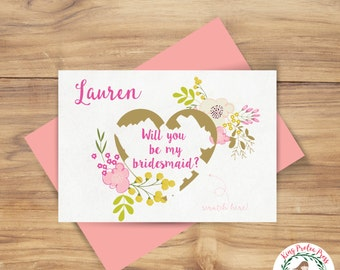 Will You Be My Bridesmaid? - Personalized Scratch-Off Card