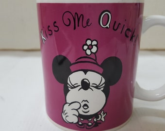 Minnie Mouse Kiss Me Quick I'm Waiting Coffee / Tea Mug