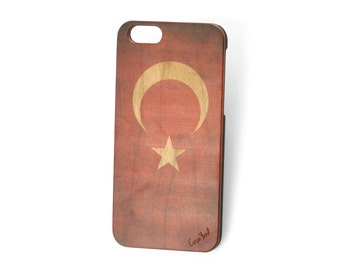 iPhone 7 case, iPhone 6s case iPhone 6 case iPhone 7 plus case iPhone 6s plus case iPhone 6 plus case Vintage Flag of Turkey