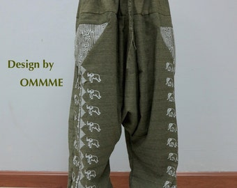 NEW Printed Elephant harem pants  (EL-4G)