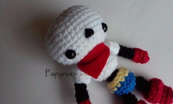 Amigurumi Undertale : Undertale Papyrus Amigurumi Undertale Plush by MintRoseShop