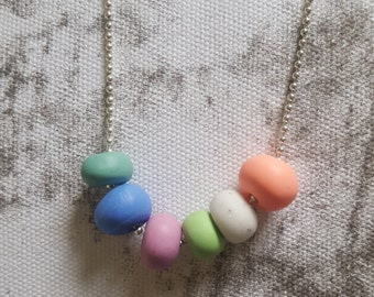 Pretty Pastel - Polymer clay necklace