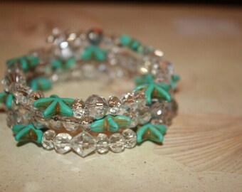 Turquoise starfish bracelet