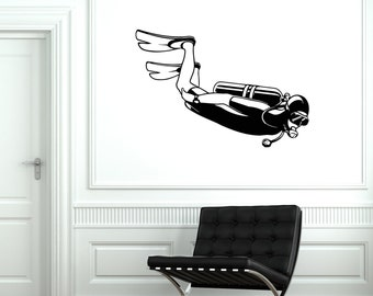 Wall Vinyl Decal Diver Diving Walter Sport Guaranteed Quality Decor 2014di