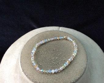 Vintage Colorful Pastel Glass Beaded Bracelet