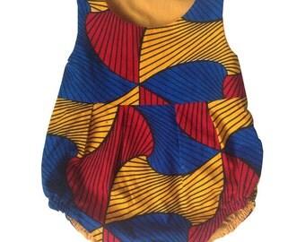 Baby girl Romper - African Print
