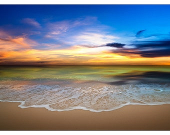 PS0278 Poster Print Tranquil SUNSET tropical beach SEASCAPE LANDSCAPE
